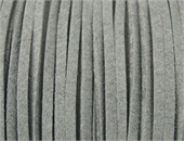 Faux Suede 3mm Grey per Meter-suede and faux suede-Beadthemup