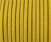 Faux Suede 3mm Yellow per M-suede and faux suede-Beadthemup