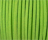 Faux Suede 3mm Lime per M-suede and faux suede-Beadthemup
