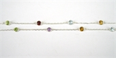 S.Silver 4mm Gemstone chain PER Metre