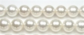 Shell Based Pearl Round 14mm White beads per strand 28-shell based pearls-Beadthemup