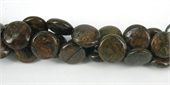 Bronzite 14mm Polished Flat Round beads per strand 29 Beads-gemstone beads-Beadthemup