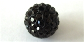 Shamballa Bead Resin/Crystal Black 12mm 2 pack-shamballa beads-Beadthemup