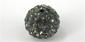 Shamballa Bead Resin/Crystal Grey 12mm 2 pack-shamballa beads-Beadthemup
