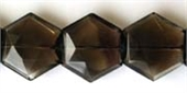 Smokey Quartz 20mm Hexagon Bead-quartz whisky champagne beer and honey-Beadthemup