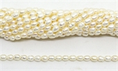 Fresh Water Pearl Rice 6x4mm White beads per strand 70 Pearl-beads incl pearls-Beadthemup