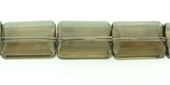 Smokey Quartz 15x20mm Faceted Flat Rectangle Bead-quartz whisky champagne beer and honey-Beadthemup