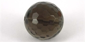 Smokey Quartz 18mm Faceted Round bead-quartz whisky champagne beer and honey-Beadthemup