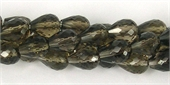 Smokey Quartz Faceted Teardrop 7x10mm beads per strand 42-quartz whisky champagne beer and honey-Beadthemup