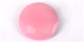 Dyed Jade Lt Pink 40mm Faceted Flat Rd Bead-jade-Beadthemup