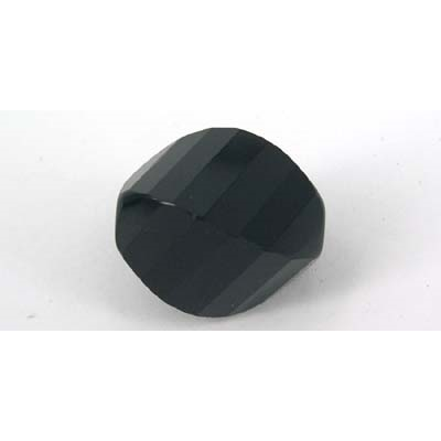 Onyx 10x14mm Faceted 4 Side Twist bead