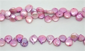 Fresh Water Pearl Purple T/Drill coin beads per strand 47Beads-beads incl pearls-Beadthemup