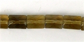 Whisky Quartz 6x8mm Faceted Tile bead-quartz whisky champagne beer and honey-Beadthemup
