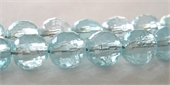 Blue topaz 5mm Faceted Round Bead-blue topaz-Beadthemup