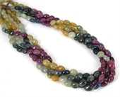 Sapphire Multi Colour Polished Mani beads per strand 48Beads-gemstone beads-Beadthemup