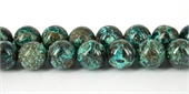 Chrysocolla 2A Polished Round 12mm beads per strand 33Beads-chrysocolla-Beadthemup