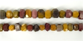 Mookaite Faceted s/drill nugget 18mm/28Beads-mookite-Beadthemup