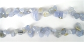 Blue Lace Agate T/d Nugget 10-14mm/54Beads-blue lace agate-Beadthemup