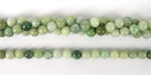 Jadeite Polished Round 8mm beads per strand 49 bead-beads incl pearls-Beadthemup