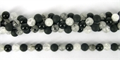 Crackled Clear Quartz/matt Onyx/Onyx/Rutlile Quartz 8mm-onyx-Beadthemup