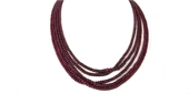 Ruby Natural Graduated Polished Rondel 3.4-5mm strand-gemstone beads-Beadthemup