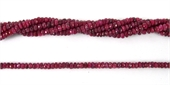 Ruby Dyed Faceted Rondel 3mm beads per strand 200Beads-gemstone beads-Beadthemup