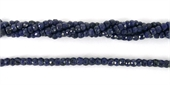 Sapphire Dyed Faceted Rondel 3x2mm beads per strand 122Bead-gemstone beads-Beadthemup