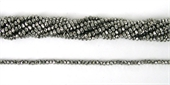 Chinese Crystal 4x3mm 140 beads Silver Night-chinese crystal-Beadthemup