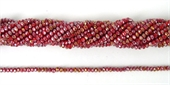 Chinese Crystal 4x3mm 140 beads Red Coral-chinese crystal-Beadthemup