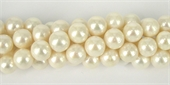 Fresh Water Pearl 11.5-12.5mm Nearly Round EACH-gold flower cap-Beadthemup