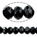 Chinese Crystal 6x8mm Black beads per strand 72 Beads-chinese crystal-Beadthemup