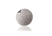 Sterling Silver CZ Bead Round 14mm-beads and spacers-Beadthemup