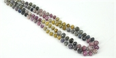 Sapphire Faceted Rondel strand-gemstone beads-Beadthemup