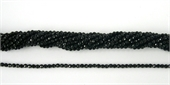 Onyx Round Faceted 3mm beads per strand 130Beads-onyx-Beadthemup