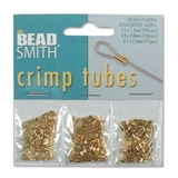 Gold Plt Base Crimp assorted pack-crimps and wire guardians-Beadthemup