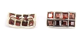 Sterling Silver 18x10mm Spacer Garnet-925 sterling silver-Beadthemup