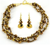 55cm Crystal Gold Necklace & Earring KIT-bead inspired projects-Beadthemup