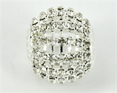 Brass Base Rhinestone ball 23mm Silver-round beads-Beadthemup