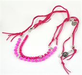 2m Plaited Charm Lariart  Pink KIT-bead inspired projects-Beadthemup