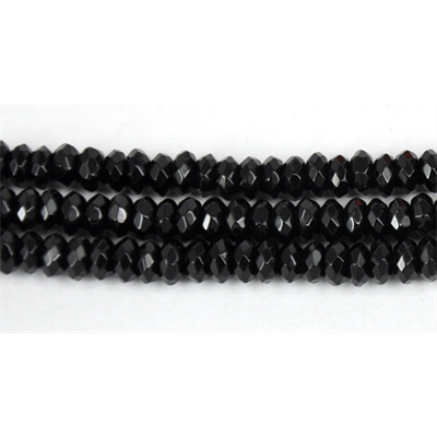 Onyx 3x6mm Faceted Rondel beads per strand 130 Beads