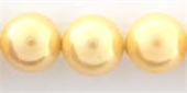 Shell Based Pearl 14mm Golden each-shell based pearls-Beadthemup
