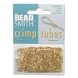 Gold Plate Base Crimp 2x2mm 400 pack-crimps and wire guardians-Beadthemup