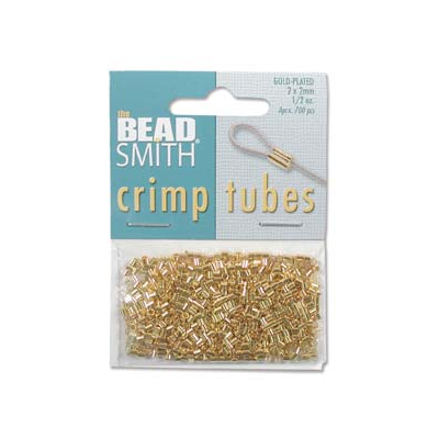 Gold Plate Base Crimp 2x2mm 400 pack