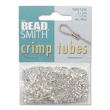 Silver Plate Base Crimp 2x2mm 400 pack-crimps and wire guardians-Beadthemup