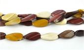 Mookite 15x30mm Polished Twist Oval beads per strand 13-mookite-Beadthemup