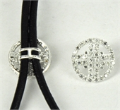 Sterling Silver Bead/Connecter with ring CZ 12mm-connectors incl.links and bars-Beadthemup