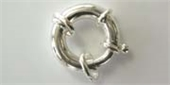 Sterling Silver 20mm Bolt Ring-clasps, toggles and extension chain-Beadthemup