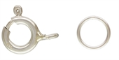 Sterling Silver Clasp bolt 8mm+ 6mm Closed ring 2 sets-clasps, toggles and extension chain-Beadthemup