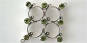 Sterling Silver Chandelier 43x38mm Peridot each-chandelier-Beadthemup