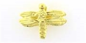Vermeil 10x7mm Dragonfly 2 pack-findings-Beadthemup